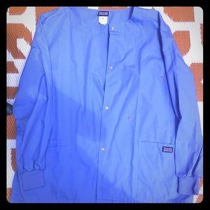 New Women's snap front scrub jacket